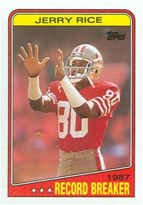 football cards value 1988 topps jerry rice 6 football card value price guide