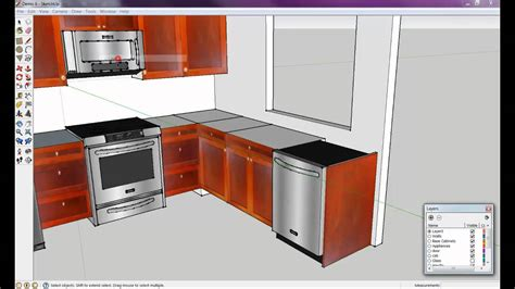 kitchen drawing program how to draw a kitchen with free software 6 of 8