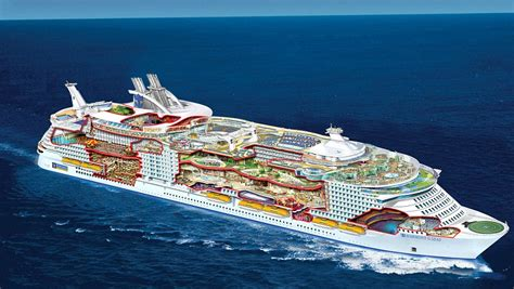 largest cruise ship in the world world s largest cruise ship flaunting futuristic features