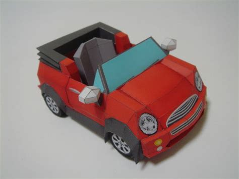 How To Make A Paper Model Car - papercraftsquare new paper craft sd mini paper car