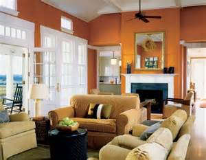 Orange Living Room Walls | the underused interior design color how to use orange