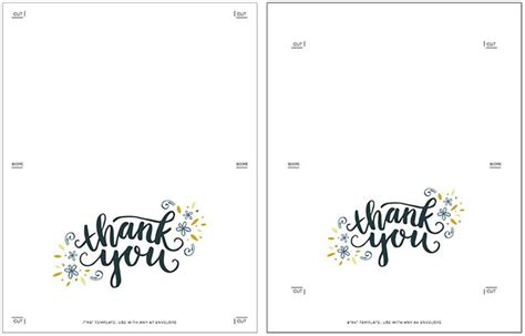 thank you card picture template freebie printable thank you card printable thank you