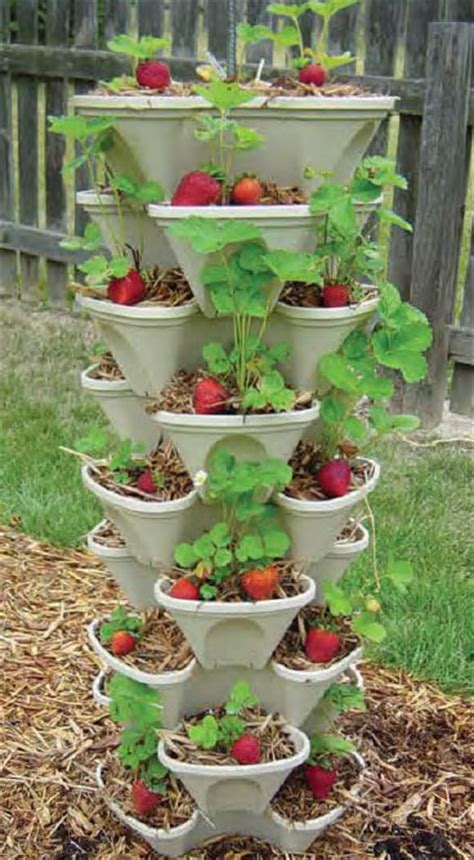 Stacking Pots Planters by Self Watering Stacking Planters