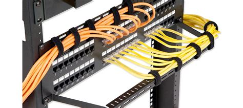 Patch Rack Cable Management by 48 Ports Cat6 Shielded Feed Through Patch Panel 2u Rack