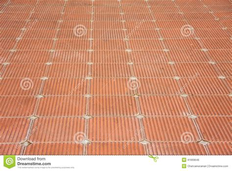 Patio Stone Tile by Patio Of Clay Brick Tile Floor Stock Photo Image 41669646