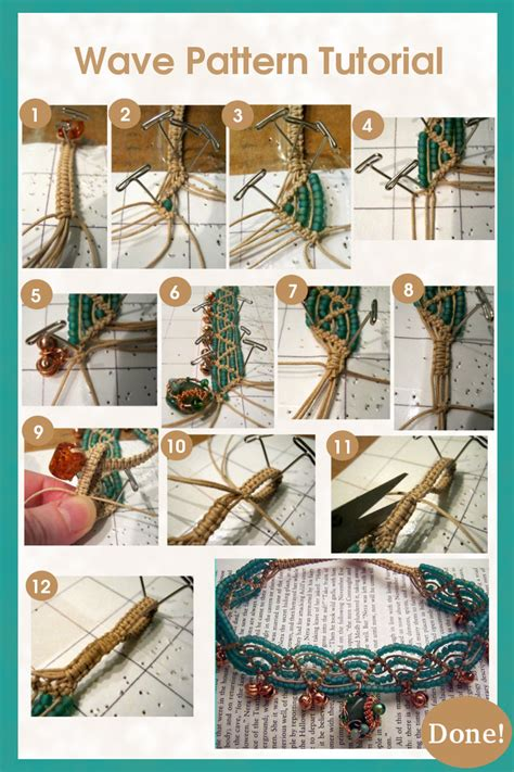 Macrame Tutorial - macrame wave pattern tutorial by chaosfay on deviantart