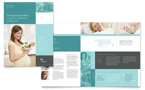pdf flyer template pregnancy clinic brochure template design