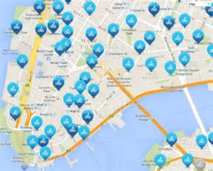 Citi Bike New York Map by Map Of Nyc Bike Paths Bike Routes Bike Stations