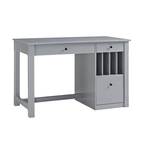 Home Office Deluxe Wood Storage Computer Desk Grey Desks With Storage For Home Office