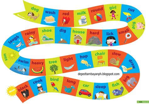free printable noun board games bulletin nouns verbs and adjectives board game deped