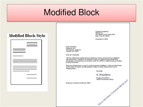 Modified Block Style Business Letter Definition business letter