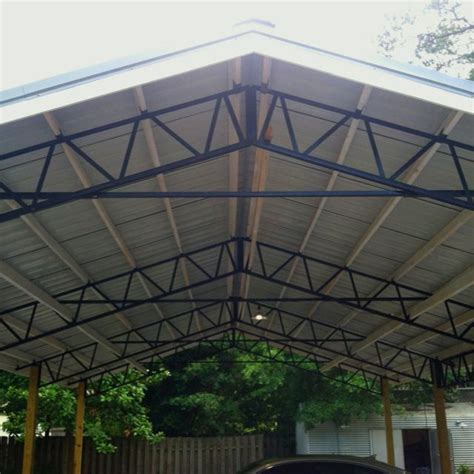 Carport Trusses steel truss diy carport from armour metals ideas for the house we steel trusses