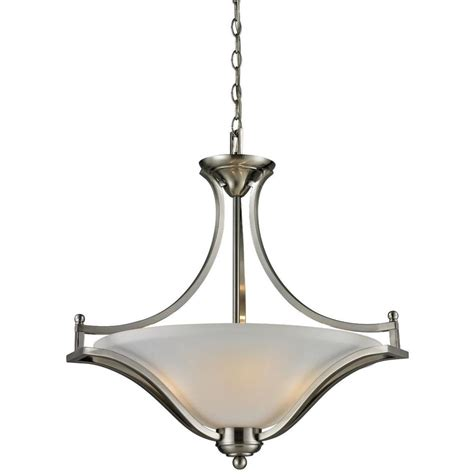 Filament Design Lawrence 3 Light Brushed Nickel Filament Pendant Lighting