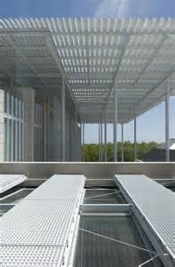 the art of aluminum and steel in architect renzo piano designed modern wing steel aluminum
