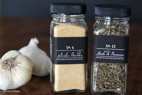 diy project ideas spice jar lables
