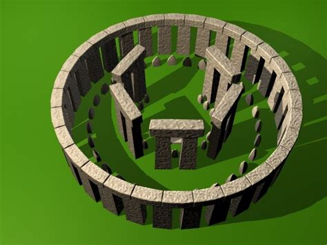 model stonehenge stone modeled
