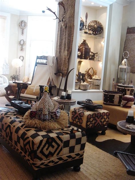 Tribal Home Decor by The African Fashionista African Inspired Living Room