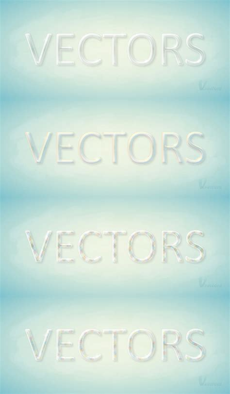 vector tutorial text create a colorful glass text effect in illustrator