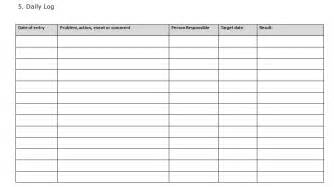 best photos of daily task log template daily log sheet