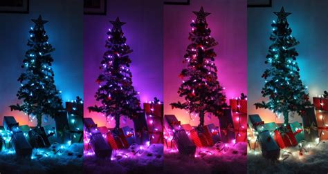 smart programmable led christmas lights rgb color changing