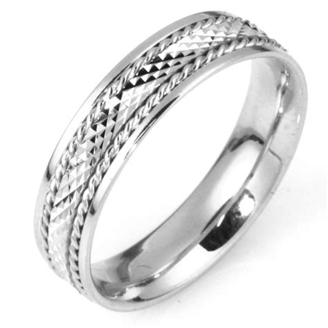111651w white gold comfort fit 5 5mm wide wedding band