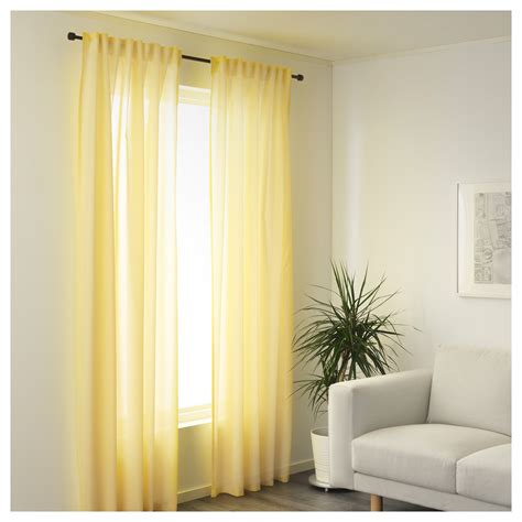ikea curtains vivan vivan curtains 1 pair yellow 145x250 cm ikea