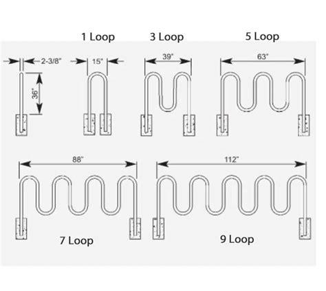 ribbon bicycle rack ultraplay 5 loop contemporary bike rack 5 3 quot l 5805