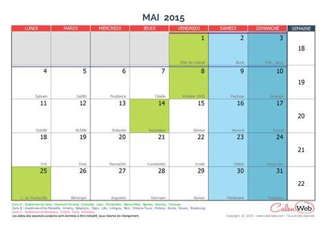 Calendrier à Imprimer Mai 2015 Calendrier Mensuel Mois De Mai 2015 Avec F 234 Tes Jours