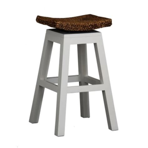 Timber Stool by Timber Stool Swivel Rattan Seat White H76cm Black Orpheus