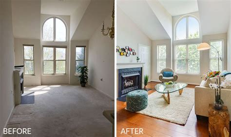after staging living room before kitchen staging a before and after a home stager reveals her secrets