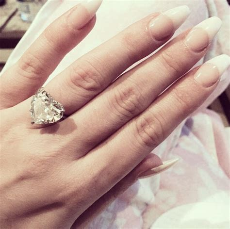lady gaga s 6 carat heart shaped diamond ring