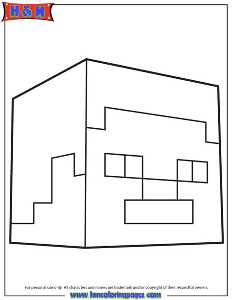 steve fro minecraft coloring pages