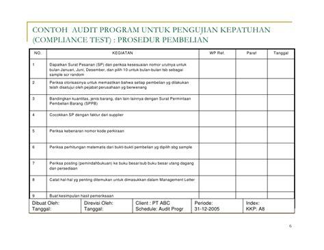 Pesanan An Sadit audit program 2