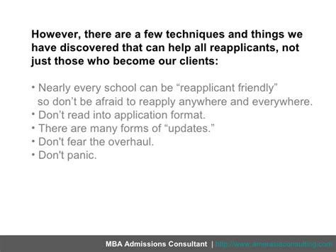 Who Is Called Mba Reapplicant by Must Read For Reapplicants