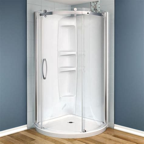 How To Install Maax Shower Door Maax Olympia 36 In X 36 In X 78 In Shower Stall In White 105972 000 001 100 The Home Depot