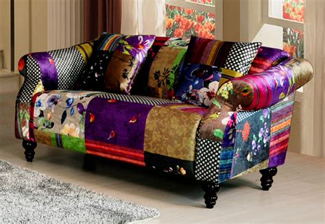 Patchwork Sofas For Sale by Shout 2 Seater Patchwork Fabric Sofa Xg0606 Ebay