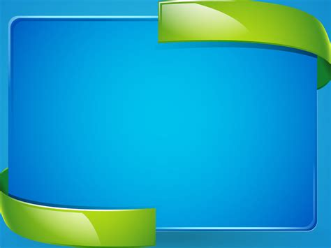 3d Green Blue Power Point Template Ppt Template 3d Powerpoint Templates