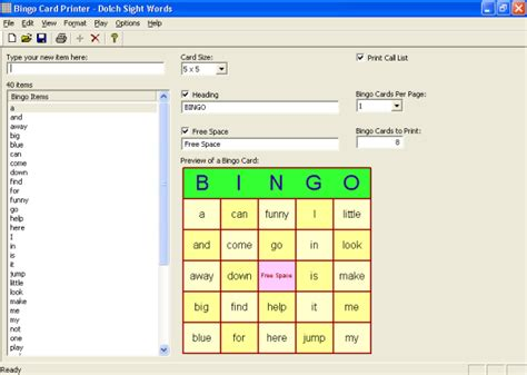 bingo card template generator bingo card printer