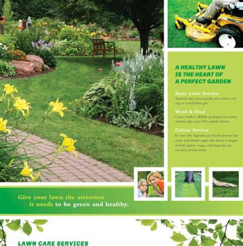 Lawn Care Flyers 28 Free Psd Ai Vector Eps Format Download Free Premium Templates Free Landscaping Flyer Templates