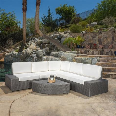 Reddington R8044g Black Grey Leather reddington 6pc outdoor grey wicker sectional set gdf studio