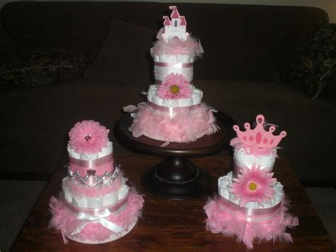 cake for baby shower centerpiece princess cake baby shower by bearbottomdiapercakes on etsy