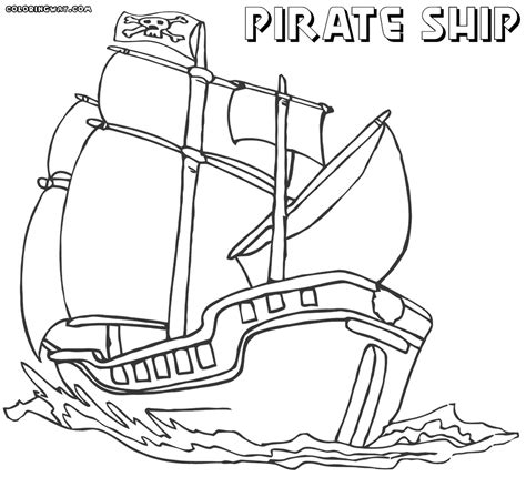 Pirate Ship Coloring Page by Pirate Ship Coloring Pages Coloring Pages To