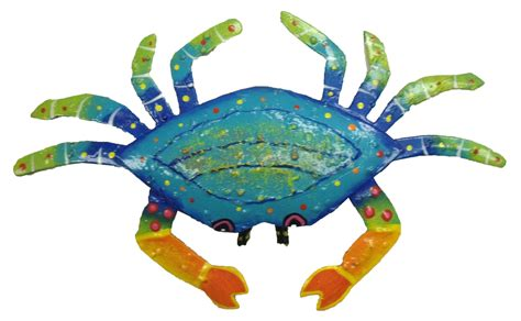 handcrafted tropical crab haitian metal wall decor