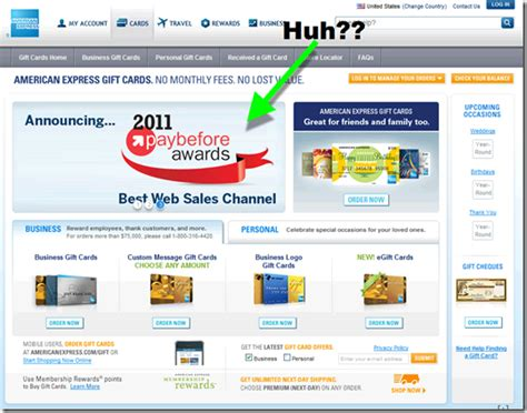 American Express Gift Card Activate - website usability design archives page 4 of 11 finovate