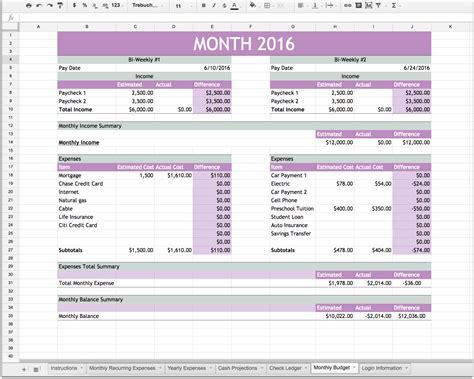 template personal finance balance sheet template