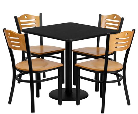 breakroom table and chairs btod 30 quot square top breakroom table w chairs