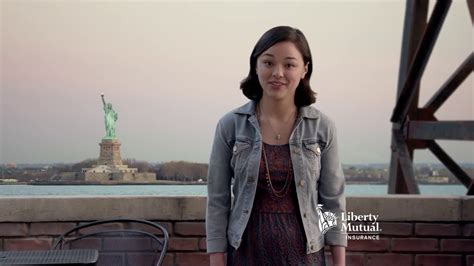 who is the asian actress in the liberty mutual brad liberty mutual you named it brad but everytime she says