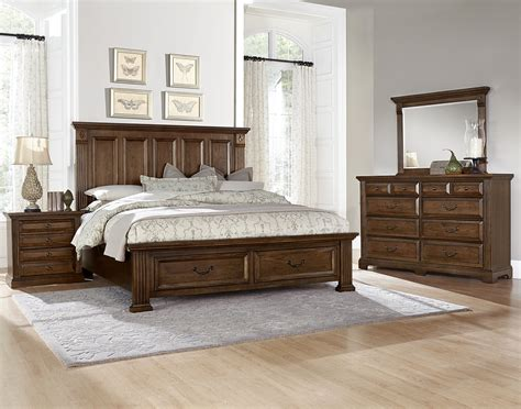 vaughan bassett bedroom vaughan bassett woodlands king bedroom group olinde s