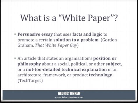 What Is Paper - ep 1 what is a white paper