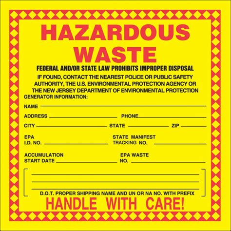 Free Hazardous Waste Label Template Hazardous Waste Label Templates Memosynergy